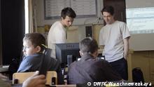 Online Projekt Krugzok für Dorfschulen in Russland, Moskau IT Alexander Bratschikov und Sergey Nugaev, Tarusa Stadt in Russland, Kinder und Internet in Russland, Mai 2018. Foto: DW/Yulia Wyschnewezkaya