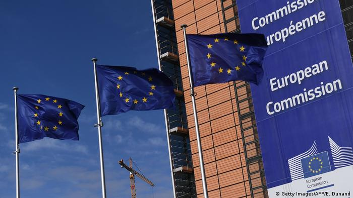 Belgien Europaflaggen in Brüssel