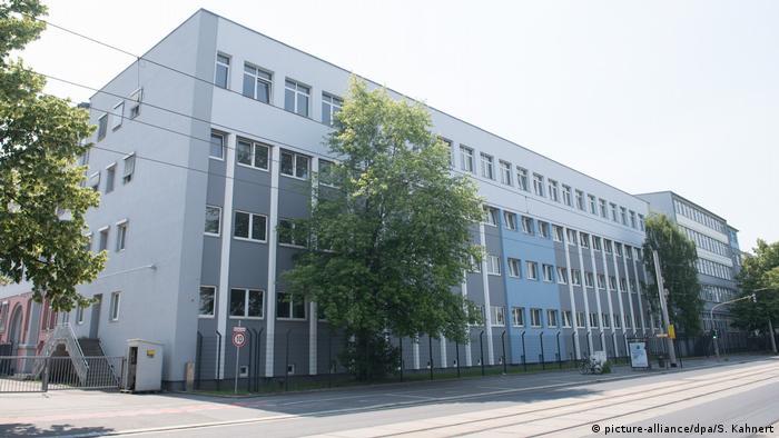Migrant reception center in Dresden