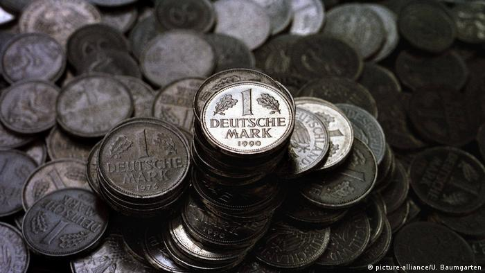 German one mark coins