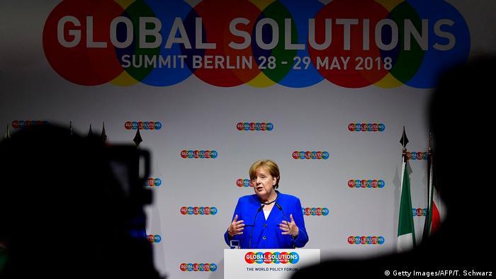 German Chancellor Angela Merkel at the Global Solutions Summit 2018 in Berlin