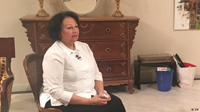 Madeha al-Ajroush em entrevista à DW, em março de 2018