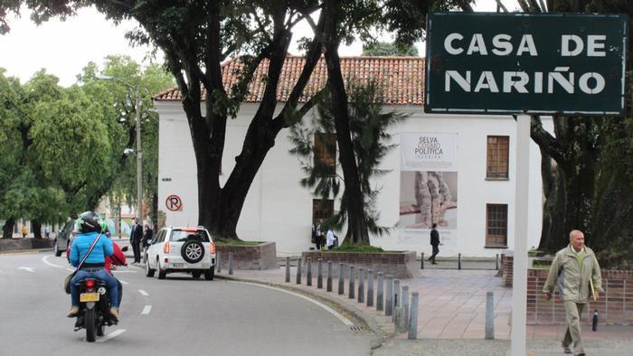 Vía a la Casa de Nariño, sede del Gobierno en Colombia.