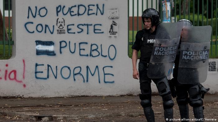 Nicaragua Managua Proteste (picture-alliance/dpa/C. Herrera)