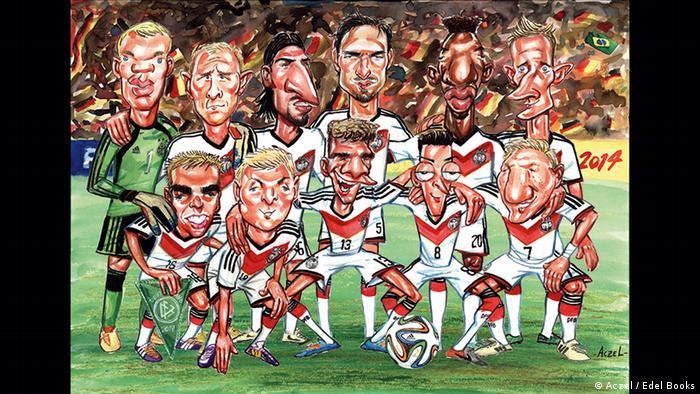 Die Aufstellung der deutschen Fußballnationalmannschaft im Endspiel gegen Argentinien