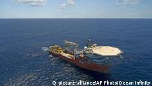 Ocean Infinitys Schiff auf der Suche nach Malaysia Airways MH370