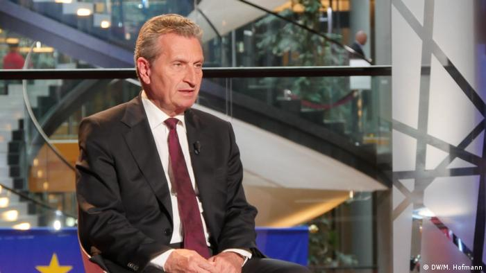 Interview Günther Oettinger (DW/M. Hofmann)