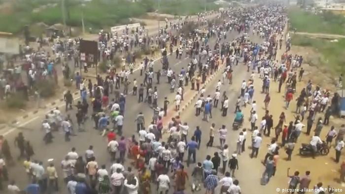 Indien Aufstand gegen Sterlite Cooper Factory in Tamil Nadu