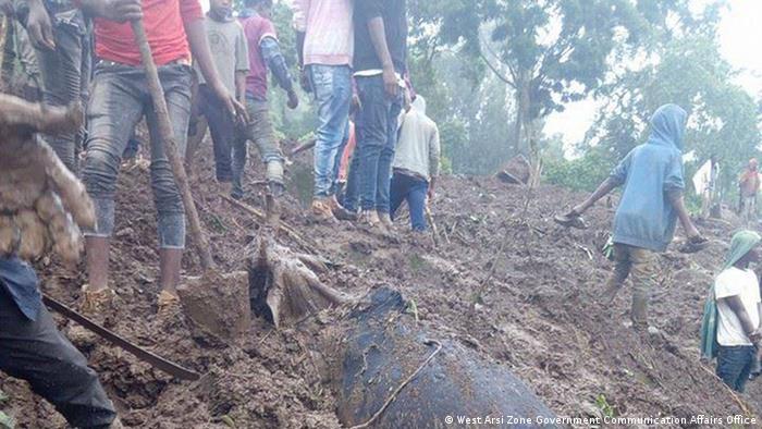 Erdrutsch Äthiopien Oromia Region West Arsi Zone