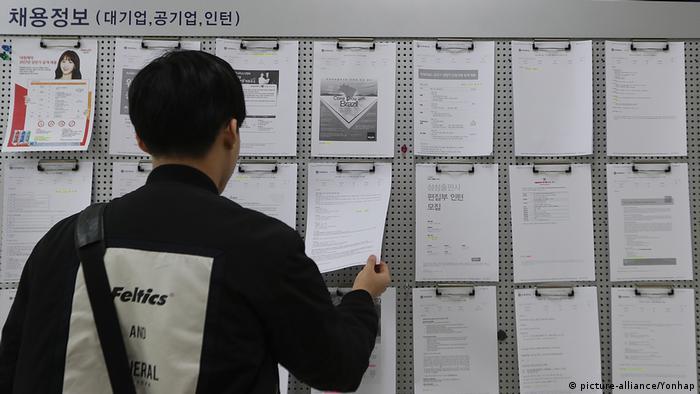 Korea Arbeitslos Jobsuche