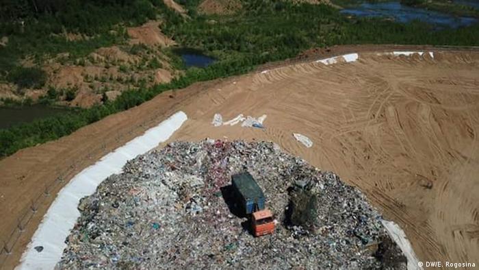 Новая мусорная свалка в Щелканово