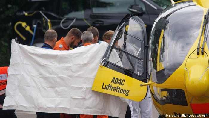Iranian asylum seeker flown to clinic after setting himself on fire in Göppingen