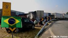 Brasilien, Sao Paulo: Seit neun Tagen LKW Streik
