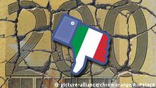 Symbolbild Euro Italien (picture-alliance/chromorange/R. Peters)