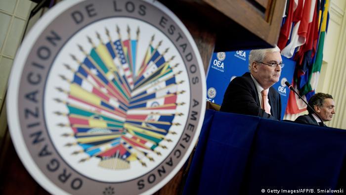 USA Washington Bericht über Menschenrechtsverletzungen in Venezuela (Getty Images/AFP/B. Smialowski)