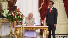 Indonesien Treffen von indischer Ministerpräsident Modi mit Präsident Joko Widodo in Jakarta