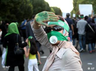 A protester in Iran in 2009