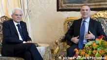 Der designierte PM Cottarelli trifft Präsident Mattarella - Rom