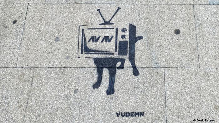 Serbien Graffiti Belgrad