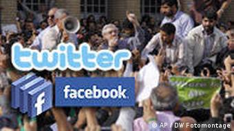 Iran Wahlen Symbolbild Facebook Twitter Demonstrationen Mir Hossein Mussawi