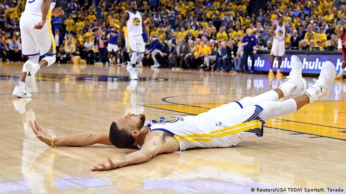 5. Bildergalerie Sportfoto Mai 2018 Stephen Curry von Golden State Warriors (Reuters/USA TODAY Sports/K. Terada)