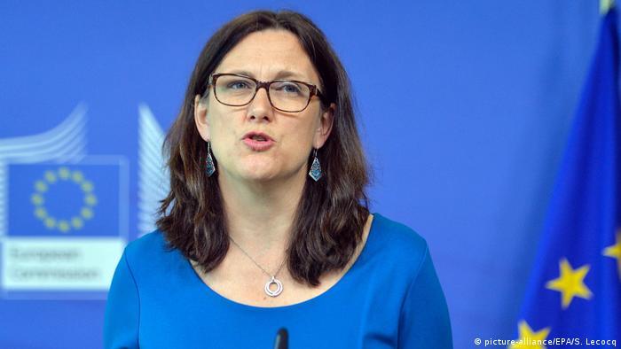 Malmström disse que a UE está pronta para fazer concessõese que espera o mesmo dos países do Mercosul