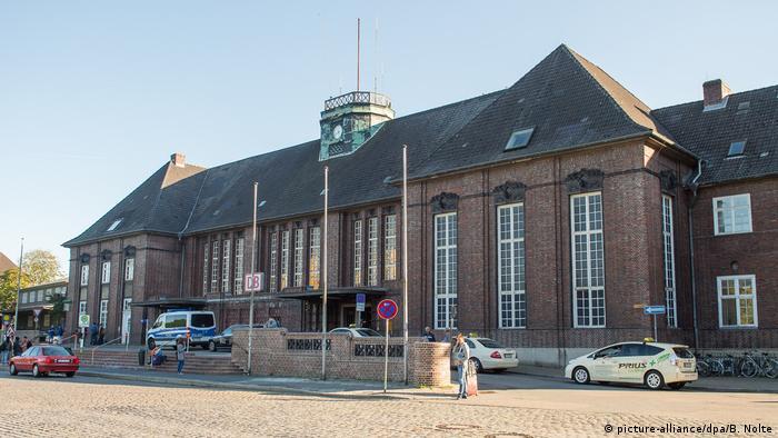 Gara din orașul german Flensburg