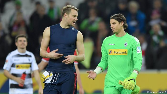 Manuel Neuer and Yann Sommer talking on the field after a game (Imago/Team 2)
