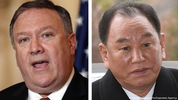 Mike Pompeo and Kim Young Chol