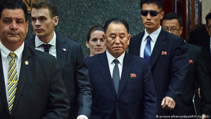 North Korea's ex-spy chief Kim Yong Chol in New York.