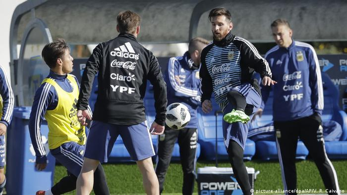 WM 2018 - Trainingslager Argentinien (picture-alliance/dpa/AP/V. R. Caivano)