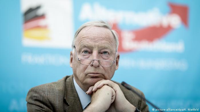 Deutschland Alexander Gauland, Fraktionsvorsitzender der AfD in Berlin (picture-alliance/dpa/K. Nietfeld)