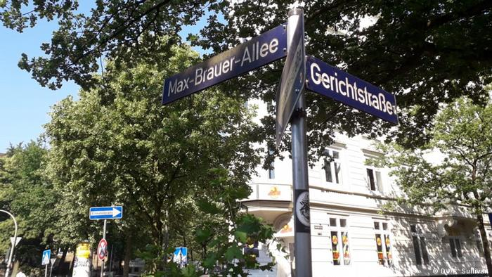 picture of Max-Brauer-Allee and Stresemannstrasse junction, in the Hamburg district of Altona