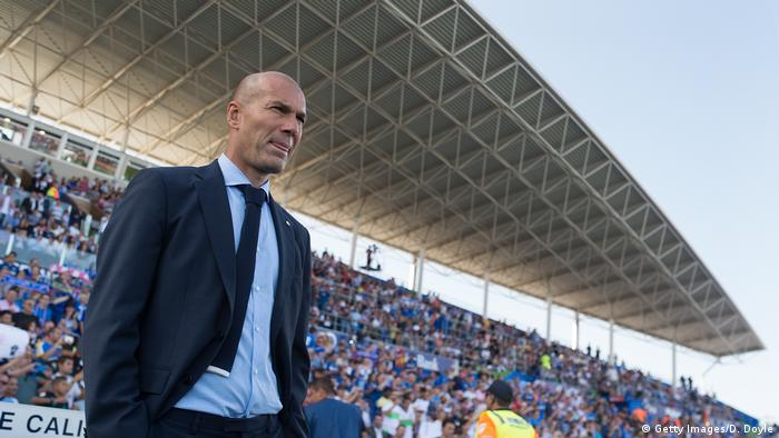 Zinedine Zidane, Trainer Real Madrid (Getty Images/D. Doyle)