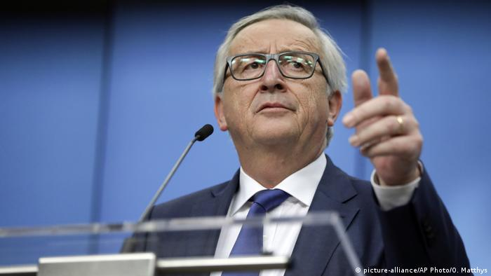 Rais wa kamisheni ya Ulaya Jean-Claude Juncker (picture-alliance/AP Photo/O. Matthys)