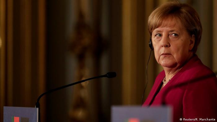 Photo of Angela Merkel in Portugal