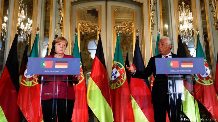Portugal Lissabon Angela Merkel Besuch bei Antonio Costa, Premierminister