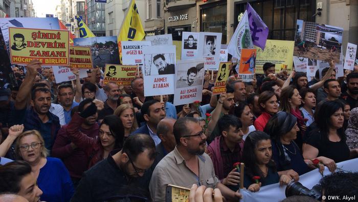 Türkei Gedenkveranstaltung Jahrestag Gezi-Proteste (DW/K. Akyol)