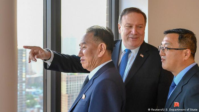 USA Mike Pompeo und Kim Yong Chol (Reuters/U.S. Department of State)