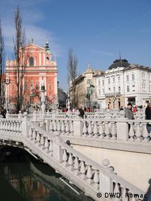 Slowenien Hauptplatz Ljubljana