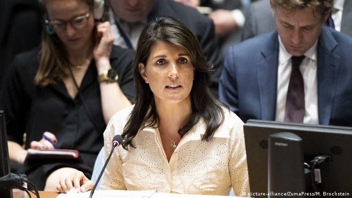 Nikki Haley at the UN Security Council in New York