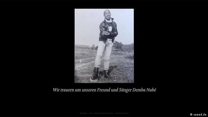 Trauer Um Seeed Sänger Demba Nabé Aktuell Deutschland Dw 0106