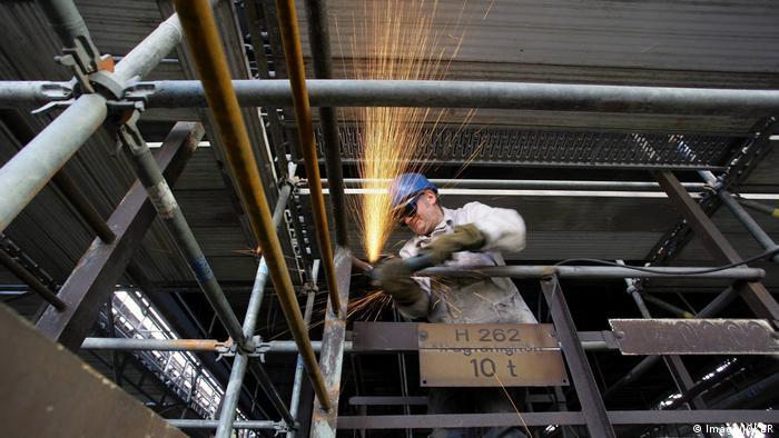 Welding work in Dortmund factory