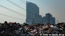 Indonesien Jakarta - Plastikmüll