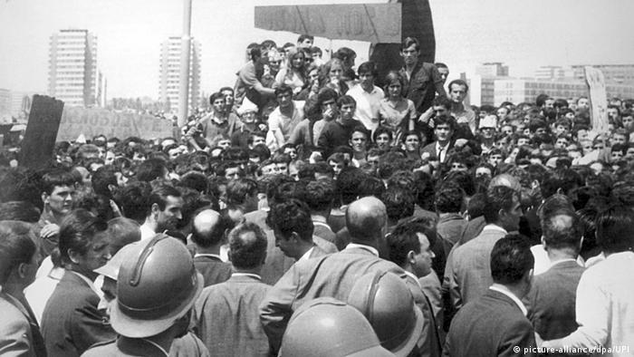 Studentendemonstration in Belgrad 1968