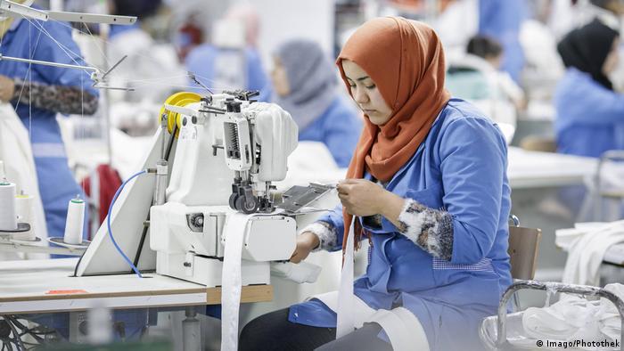 Female worker at Sartex, Tunisia