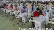 China Textilfabrik in Nantong