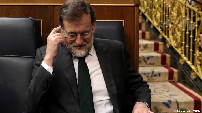 Spanien Madrid - Ministerpräsident Rajoy per Mistrauensvotum gestürzt