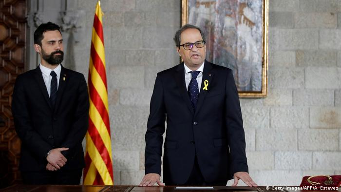 Spanien Katalonien Politik Quim Torra (Getty Images/AFP/A. Estevez)