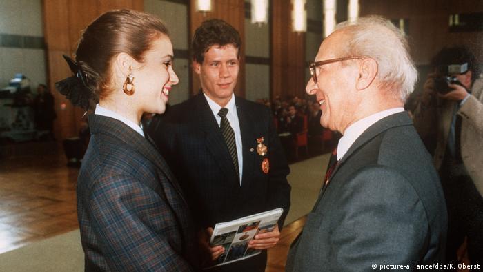 Эрих Хонеккер с Катариной Витт